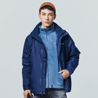 Columbia 哥伦比亚 WE1161 男士三合一抓绒冲锋衣