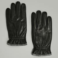Massimo Dutti 01301047800 男士皮革手套