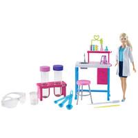 芭比 Barbie 芭比娃娃礼盒套装之小小科学家 女孩过家家玩具 GBF78 *2件