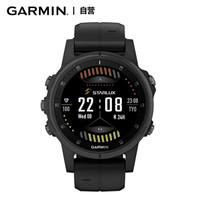 佳明(GARMIN)户外手表 Fenix5splus 深邃黑蓝宝石镜面 心率音乐支付跑步三星定位健身多功能运动导航手表