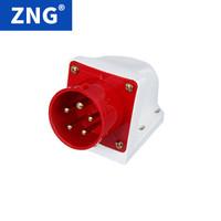 ZNG 明装器具输入插座5芯32a 三相五线380V32a5p工业反插座 5个装