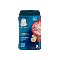 临期品:Gerber嘉宝 婴幼儿香蕉草莓燕麦米粉3段8个月以上227g