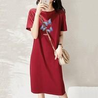 KAYAIV KY5807 女士纯棉T恤裙