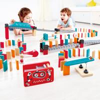 德国(Hape)机械多米诺发射器套骨牌儿童玩具拼搭积木益智玩具 4岁+ E1057 男孩女孩生日节日礼物