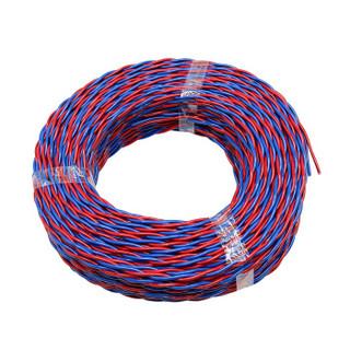 菊花 RVS 2×1.5平方 2芯多股国标铜芯软双绞线 100米