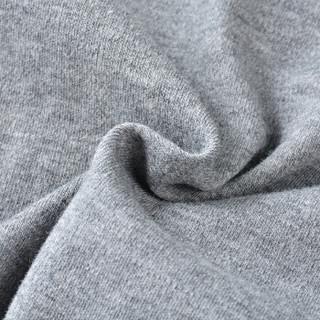 芬腾 新品情侣简约经典翻领棉质休闲长袖家居服男士睡衣L980A11797 灰色 M