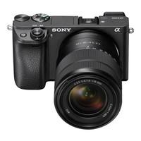 SONY 索尼 Alpha 6300 微单数码相机 银单镜头套装 黑色 18-135mm F3.5-5.6