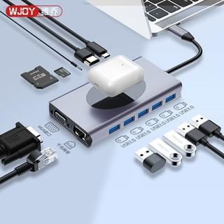 WJOY 十三合一 无线充电拓展坞(千兆网口、HDMI、PD、USB3.0)