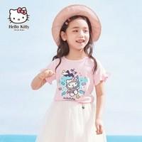 Hello Kitty 凯蒂猫 女童短袖T恤加短裤合辑