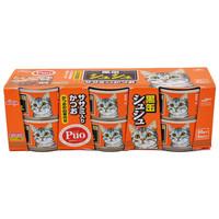 爱喜雅(Aixia)猫粮罐头 黑罐咻咻系列 金枪鱼加鸡胸肉 80g*6罐 泰国进口