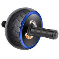 凯速运动健身器材胎形大宽轮健腹轮腹肌轮健腹器PR42(带跪垫)蓝色