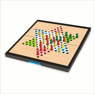 奇点 SING UIAR)磁石中国跳棋 便携式折叠磁性跳棋盘套装 儿童益智桌游游戏棋