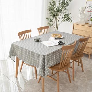 意尔嫚 桌布家居 加厚现代简约印花布艺茶几布 北欧风餐桌布台布 140*180cm 树叶