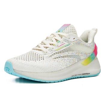 361° 女款跑鞋 222F 羽毛白/萤光电子粉 36
