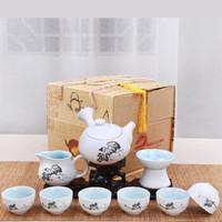 柯锐迩 雪花釉10头陶瓷茶具 中式茶道功夫沏茶茶具套装 茶壶茶杯办公家用泡茶整套茶具礼盒装
