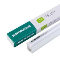 鸿雁(HONYAR) LED T5一体化支架灯管 日光灯管 恒微星系列 1.2米 14W 白光 6000K(25支装)