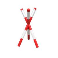 丛林狐  米字架拒马路障移动护栏学校门口挡车护栏隔离栏路障拒马挡车拒马  红白款 1米宽1.2米高
