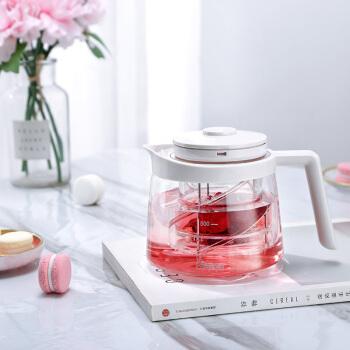 恒福 飘逸杯飘逸壶玻璃壶花茶壶专利设计杜绝茶渣 白色