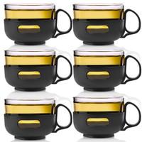 唯成茶杯玻璃套装小容量150ml泡花草茶玻璃杯套装创意耐热玻璃透明隔热防烫紫兰茶杯6只装BLB009