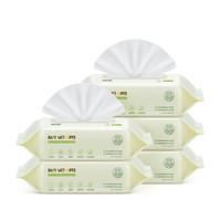 润本(RUNBEN)湿巾 婴儿湿巾 80抽×5包 湿纸巾 手口湿巾 湿巾小包 婴童用品 (带盖/益生元)