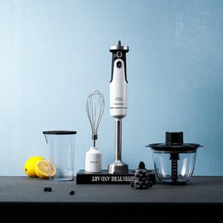 摩飞电器(Morphyrichards)料理机 家用多功能手持式 打蛋切菜婴儿辅食搅拌机榨汁机料理棒MR6006 白色