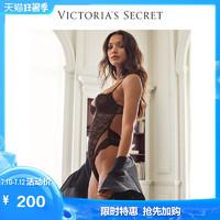 维多利亚的秘密 睫毛蕾丝拼接刺绣背部镂空连体衣VS 11153249