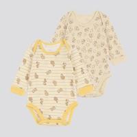 UNIQLO 优衣库 419841 婴儿/新生儿 圆领连体装 2件装