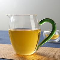 品茶忆友 玻璃茶具 茶杯公道杯茶具配件 jp-13彩把(绿色)