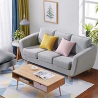 L&S 沙发 北欧式沙发现代小户型客厅沙发 布艺三人沙发椅S336