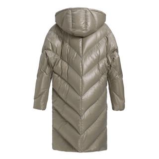 设计师品牌 LUCIEN WANG 浅灰色斜门襟羽绒服 浅灰色 M