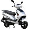 菲尔斯 踏板车摩托车迅鹰125cc燃油男女士踏板车助力代步车可上牌鬼火踏板摩托车街车机车 白分黑