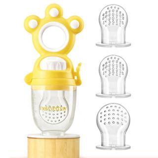 纽因贝(NEWYERBAY)婴儿水果蔬菜咬咬乐训练器磨牙器 宝宝水果蔬菜辅食器 香蕉黄
