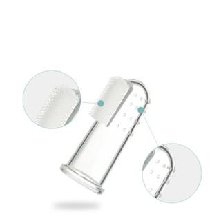 babycare婴儿手指套牙刷 婴幼儿童硅胶软毛宝宝乳牙刷0-3岁2个装(盒) 3062
