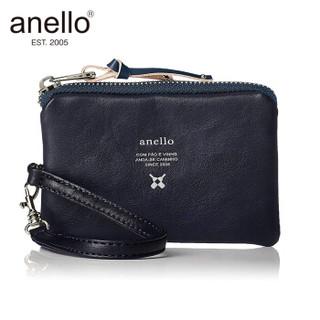 anello  带卡套手拿包零钱包卡包随身收纳包N0574 藏青色