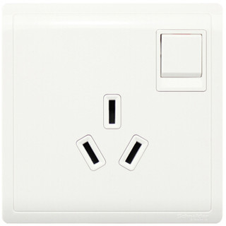 Schneider Electric 施耐德电气 开关插座 16A三孔空调插座带开关 86型插座面板 丰尚系列 白色E8215_16CS