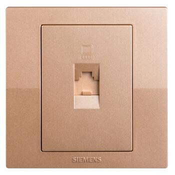 SIEMENS 西门子 lavie 悦动系列 5UH8062-3NC03 电脑插座面板 香槟金