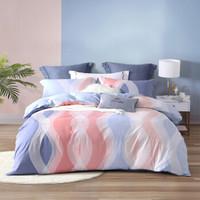 水星家纺 床上四件套纯棉 全棉床品套件床单被罩被套 床上用品 多彩醇梦  双人1.5米床