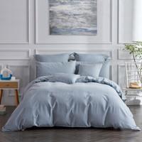 水星家纺 床上四件套纯棉 全棉磨毛床品套件秋冬加厚被套床单被罩 斯洛亚克(浅蓝色)双人1.5米床