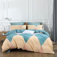 水星家纺 床上四件套纯棉 全棉磨毛床品套件秋冬加厚被套床单被罩 帕特里 加大双人1.8米床