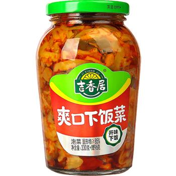 吉香居 榨菜 爽口下饭菜 酱腌菜 瓶装咸菜泡菜萝卜干 330g赠96g