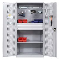 奈高重型工具柜整理柜车间工具收纳箱铁皮柜带抽屉钢制资料柜1800*900*500款式三