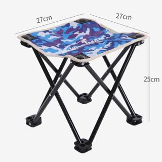 沃特曼Whotman 马扎折叠椅便携式小凳子钓鱼椅户外休闲马扎 小号 WY1508数码蓝