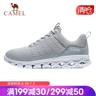 骆驼(CAMEL) 运动鞋男女跑步鞋时尚休闲情侣款鞋子透气超轻跑鞋 A912600035 男款灰色 41