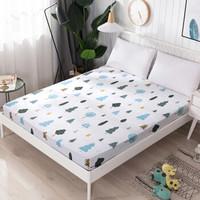 艾薇 全棉床笠 席梦思保护套 床罩床套床垫罩 单件 晨林 180*200cm *3件