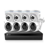 海康威视萤石 200万无线监控设备套装X5C 8路2T硬盘 8台1080P无线枪机监控摄像头 家用商铺工程