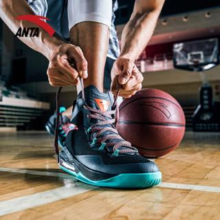 安踏 ANTA官方旗舰 91711101 篮球鞋2018气垫球鞋运动鞋男神盾1代高帮比赛战靴 深灰/黑/咖玛青 9.5(男43)