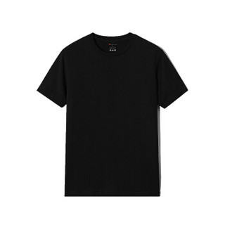 Luxury Lane  短袖t恤男士春夏休闲圆领纯色t恤 黑色 S
