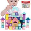 丹妮奇特 61粒马卡龙大块积木桌面男孩女孩儿童玩具木制桶装早教拼图宝宝启蒙婴儿1-3周岁生日礼物