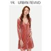 URBAN REVIVO YU03R7FN2000 女士丝绒连衣裙