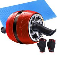 凯速健身器材自动回弹健腹轮美版宽轮健腹器风火轮腹肌轮健腹滚轮CP57活力红